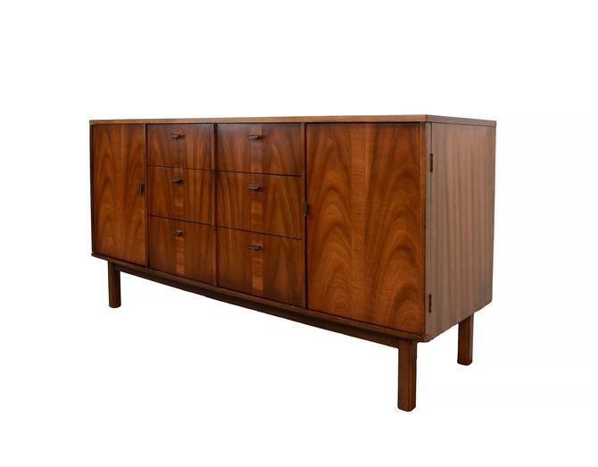 Walnut Credenza Sideboard Mid Century Modern by HearthsideHome
