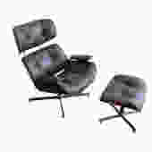 Mid Century Eames Style Lounge Chair and Ottoman