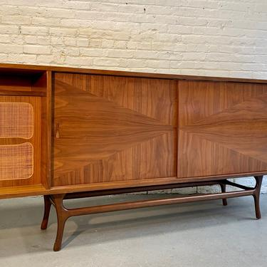 Extra LONG Mid Century MODERN Walnut Stereo Cabinet / CREDENZA / Media Stand by CIRCA60