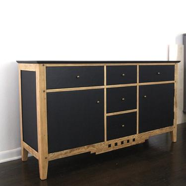Vintage black and pine sideboard-local pick up only Richmond, VA by emandwitdesign