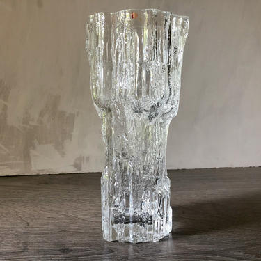 Vintage Tapio Wirkkala for Iittala Avena Vase, Finland Finnish Crystal Icicle Glass, Tapio Wirkkala Scandinavian Modern Art Glass by PKFlamingoVintage