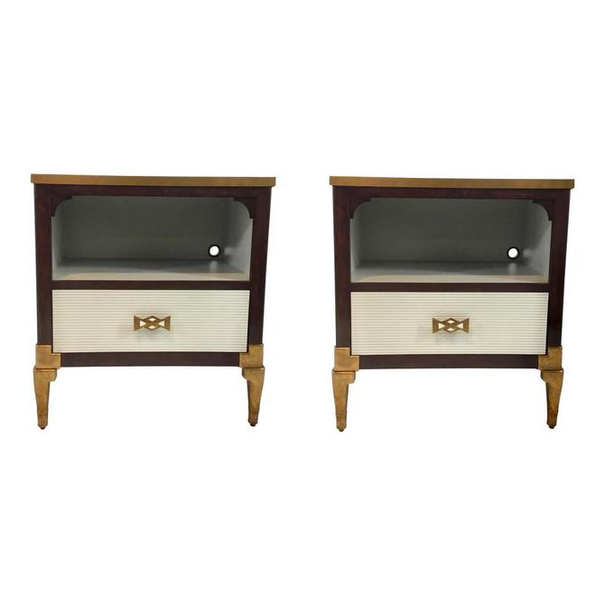 Mid-Century Modern Inspired Henredon Queensboro Nightstands Pair