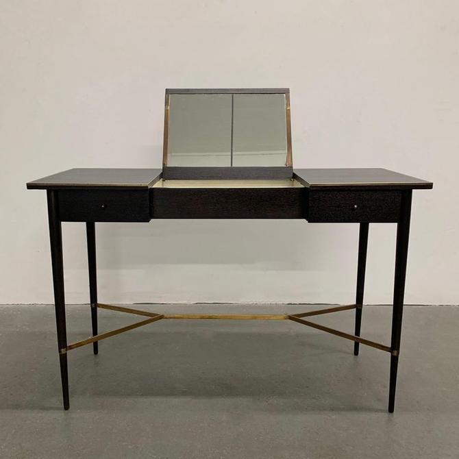Paul McCobb Ebonized Mahogany Vanity Table
