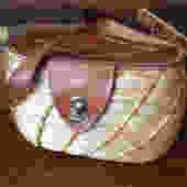 Vintage 1950s Italy Leather Basket Weave Rafia Straw Wicker Handbag Case Storage by JansVintageStuff