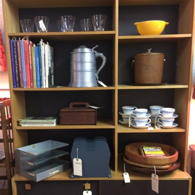 Mid Century Danish Modern Teak Bookcase Cabinet