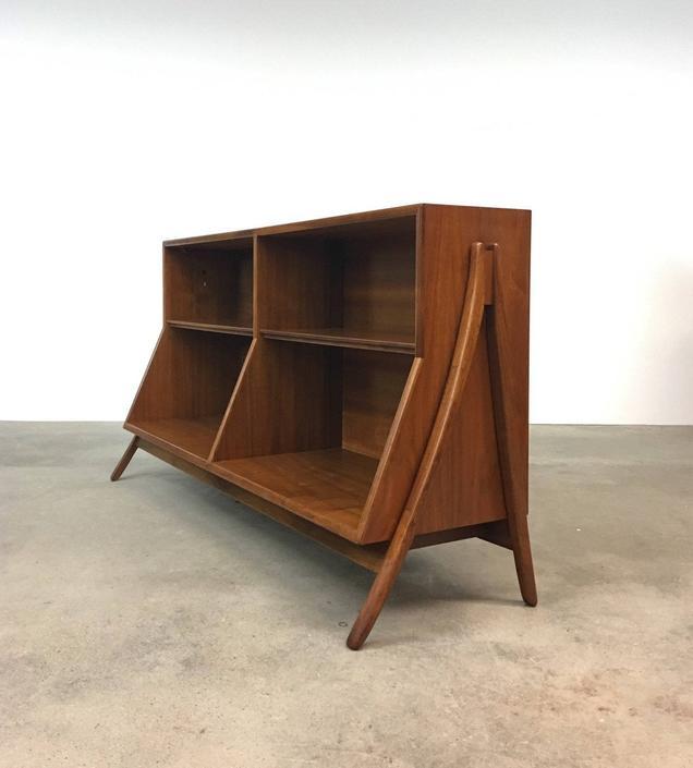 Kipp Stewart | Drexel Declaration Walnut Bookcase | Mid Century cabinet book by midcenTree