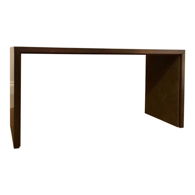 Henredon Modern Bronze and Suede Bench
