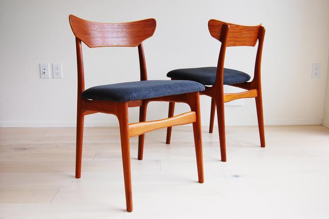 Set of 2 Danish Modern Schionning Elgaard Teak Dining Chairs for Randers Mobelfabrik Made in Denmark by MidCentury55