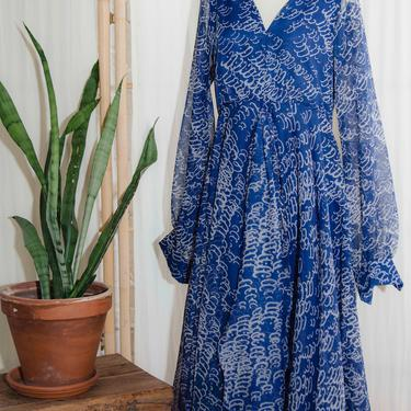 Don Luis De Espanna Sheer Abstract Dress by PFVintage