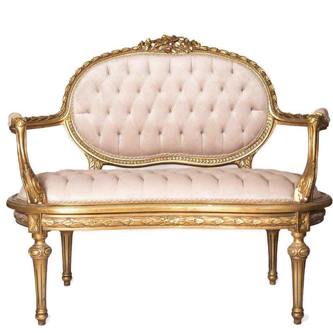 LOUIS XVI Style Loveseat, French, French Provincial, French Country Decor by 3GirlsAntiques