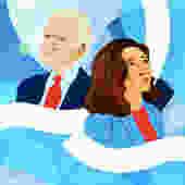 Joe Biden & Kamala Harris: President and Vice President - Blue by MonicaAhanonuDesign