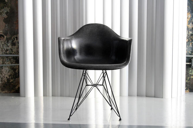 Black Fiberglass Arm Shell by Eames for Herman Miller
