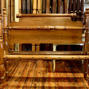 Tulip Top Bed in Maple, Original Posts Circa 1830 ~ Resized to Queen