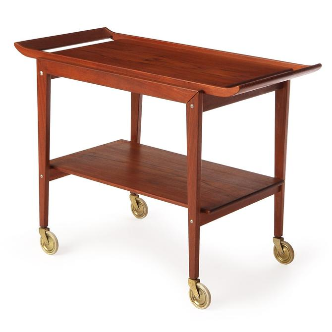 Two Tiered Teak Cart