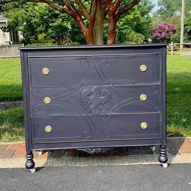 Vintage dresser painted blue by StylishPatina