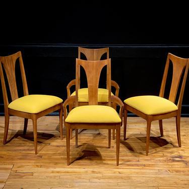 Set of 4 Broyhill Brasilia Walnut Dining Chairs - Broyhill Premier Mid Century Modern Danish Style Furniture by MidMod414