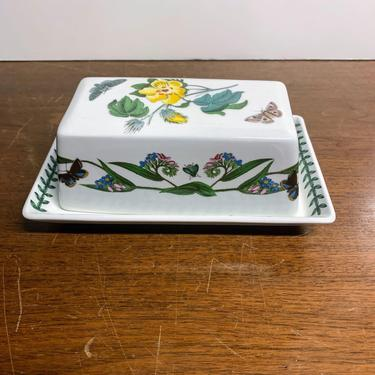 Vintage Portmeirion Botanic Garden Covered Butter Dish by OverTheYearsFinds