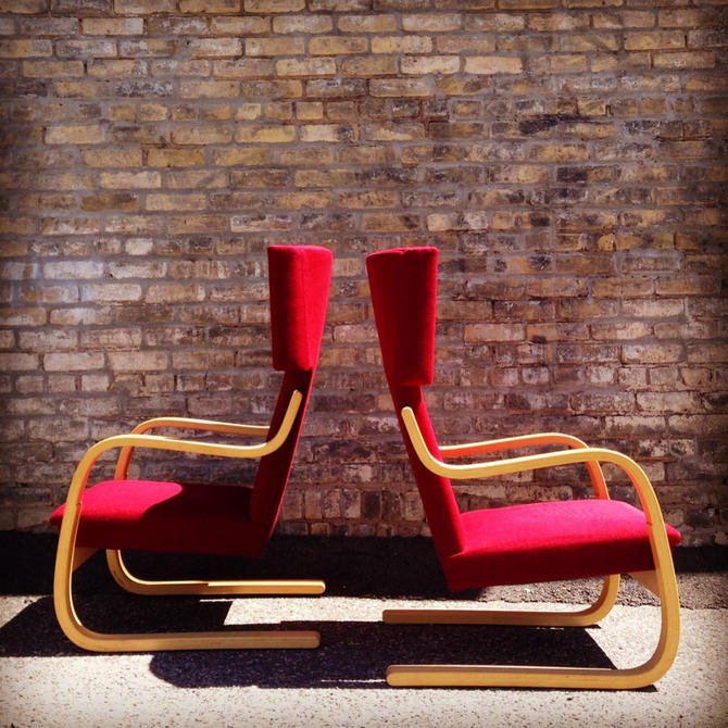 Alvar Aalto Model 401 Easy Chairs