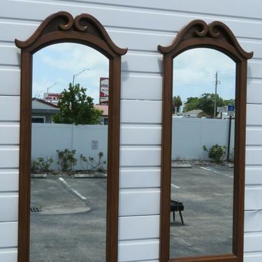 French Pair of Wall Bathroom Vanity Dresser Mirrors 2361