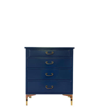 AVAILABLE - Navy Blue Lacquered Chest by JulieSimpleRedesign