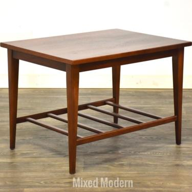Walnut Mid Century End Table by mixedmodern1