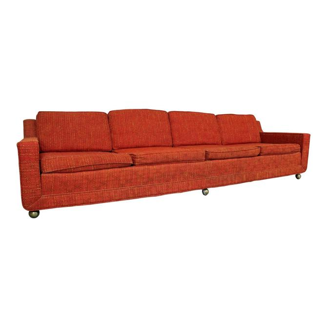"""Mid-Century Elongated  4-Seat Sofa by Kroehler 109"""" by AnnexMarketplace"""