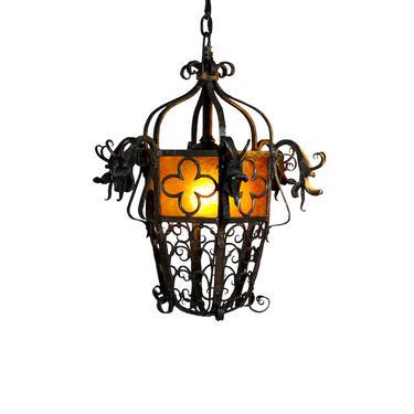1920's Scandinavian Design Dragon Lamp