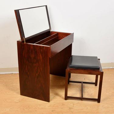 Vanity + Flip-Over Stool | Table in Danish Rosewood