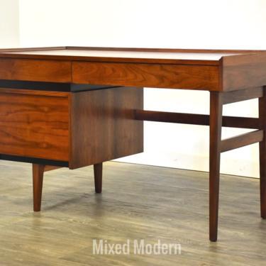 Walnut & Black Desk by Dillingham by mixedmodern1