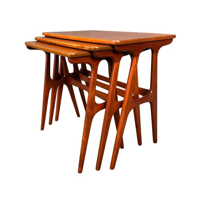Vintage Danish Mid Century Modern Teak Nesting Tables by AymerickModern