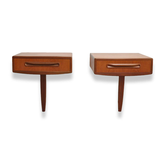 Vintage Mid-Century G-Plan Fresco Floating Nightstands Bedside Tables (Pair) by MCMSanFrancisco