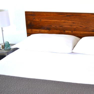 King Size | Reclaimed Wood Headboard | Wood Headboard | Mid Century Inspired | Minimal Design | Bedroom Furniture | Custom Sizes by CasanovaHome