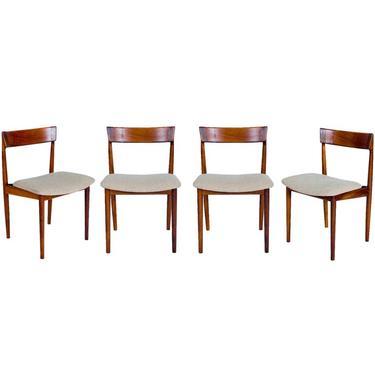 Set of 4 Rosewood Rosengren Hansen Dining Chairs