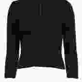 St. John Sport - Brown Ribbed Mock Turtleneck Quarter Zip Sweater Sz P