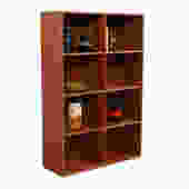 Thin Compact Danish Modern Teak Bookcase