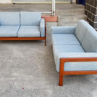 Pair Teak  Sofa / Loveseats Danish Modern by JanakosAndCompany