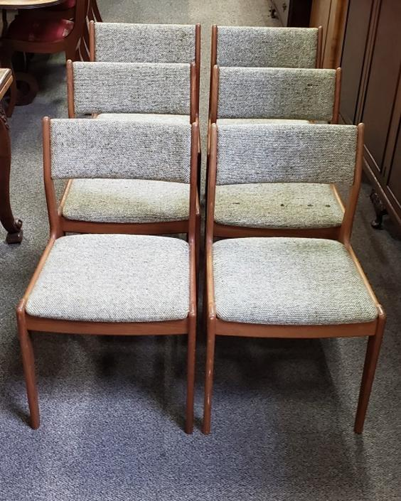 Item #S3 Set of Six Mid Century Modern Dining Chairs c.1960