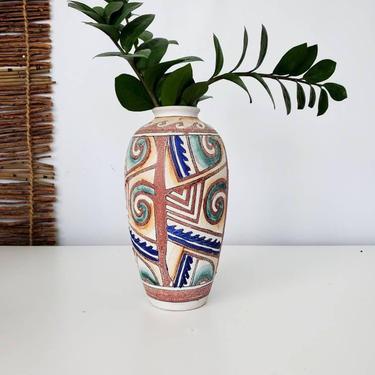 Rustic Boho Pottery Art Vase by pennyportland