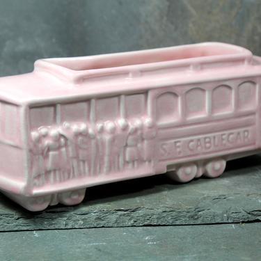 San Francisco Vintage Ceramic Pink Planter - Circa 1950s/60s Vintage Ceramic Planter - MB of California | FREE SHIPPING by Bixley