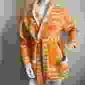 Orange Space Dye Cardigan