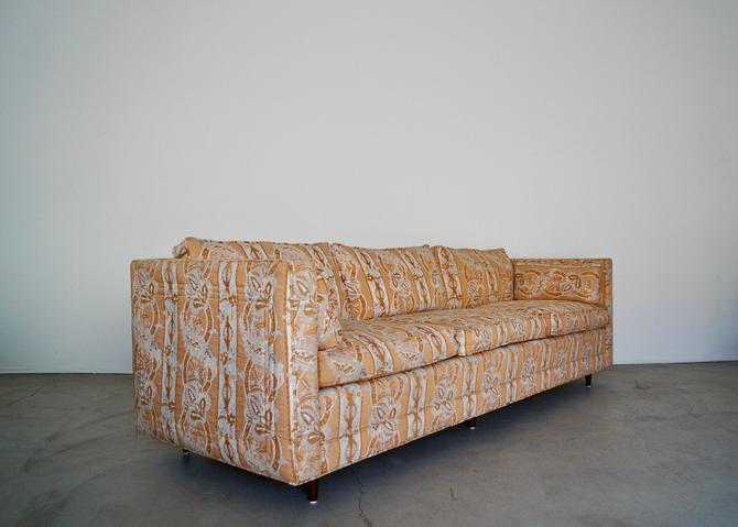 Gorgeous 1960's Tuxedo Sofa in Original Designer Fabric! Down Filled! by CyclicFurniture