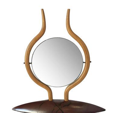 Danish Modern Teak Table Top Vanity Mirror by HarveysonBeverly