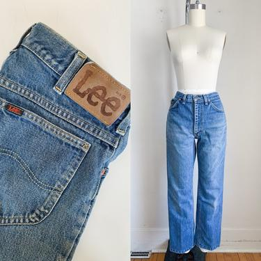 "Vintage 1980s Lee Jeans / 32/36"" / 30"" waist by MsTips"