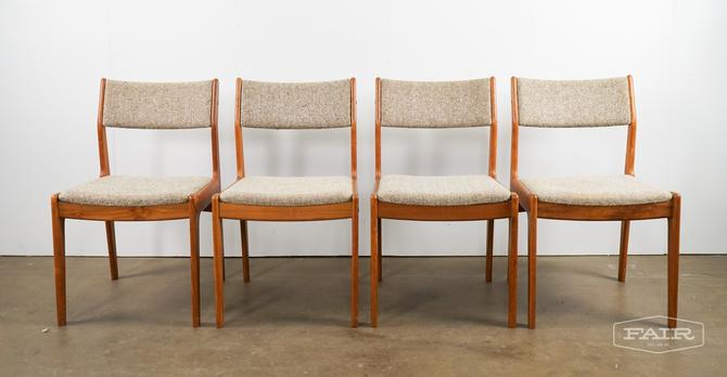Set Of Four Teak Dining Chairs For Scan