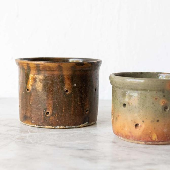 Vintage Cheese Pot set of 4
