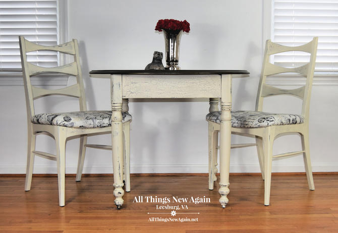 Small Kitchen Table and Chairs | Farmhouse Kitchen Table | Small Dining  Table and Chairs | Breakfast Nook | White Kitchen Table | Dining Set by ...