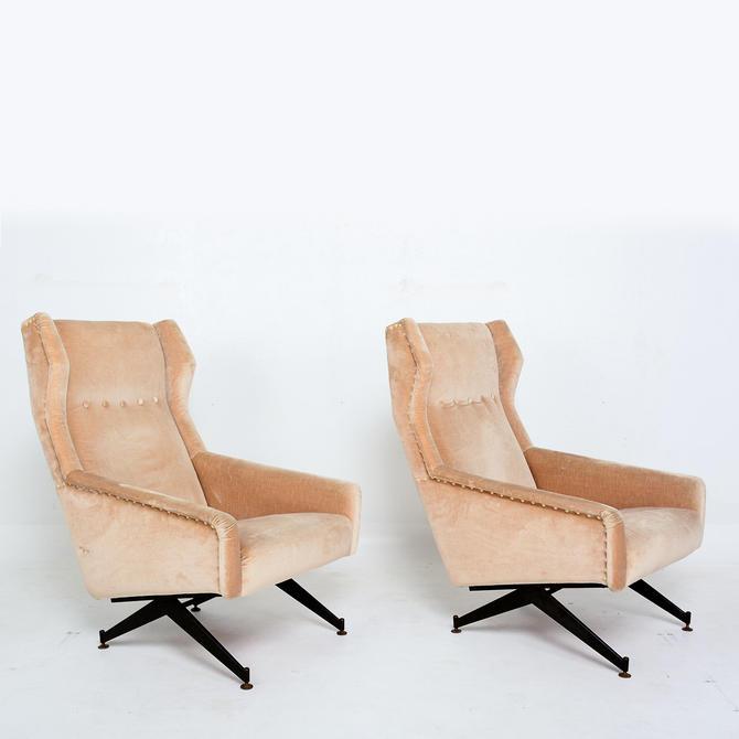 Osvaldo Borsani for Tecno  Italian Vintage Armchairs Modern Italy 1950s- a pair by AMBIANIC