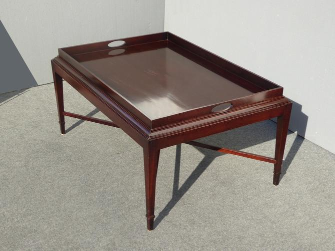 Vintage Hand Planed Solid Mahogany Tray Coffee Table Retails for 2,999 by Baker by VintageLAfurniture