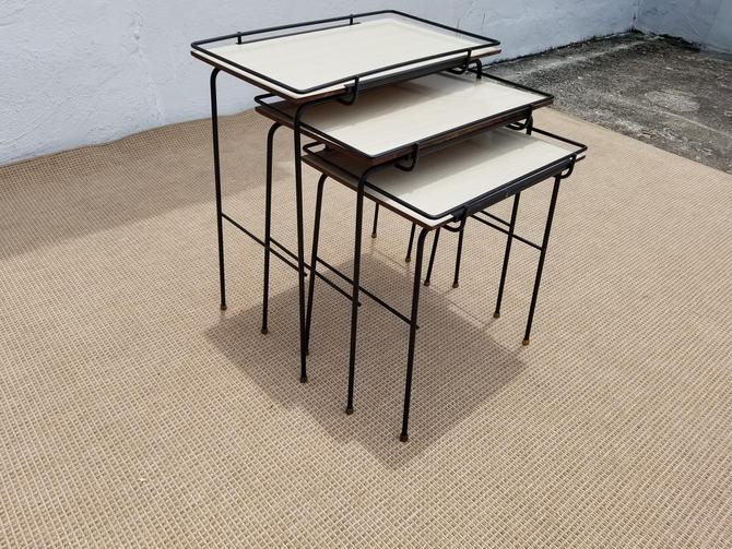 Mathieu Mategot  Style  Nesting Tables . by MIAMIVINTAGEDECOR