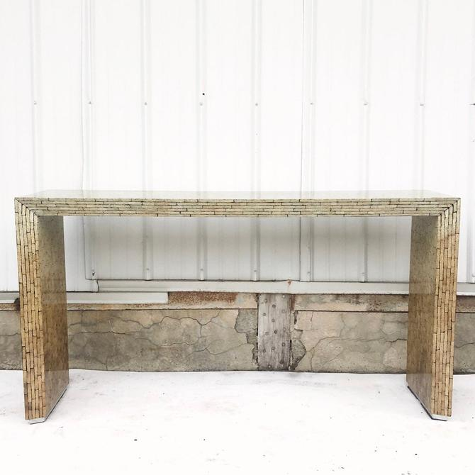 Vintage Modern Console Table In the Style of Karl Springer by secondhandstory
